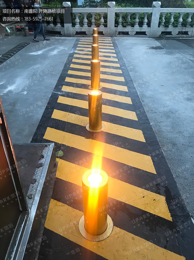 UPARK为厦门南普陀自动升降柱项目安装完成!