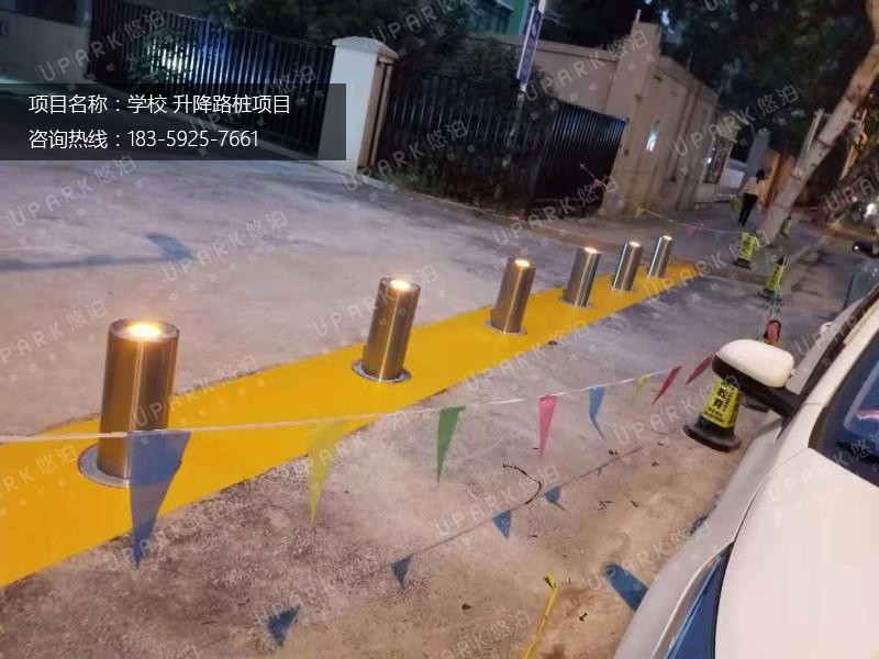 南京凤凰西街芳草园小学全自动升降柱项目